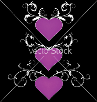 Free heart with floral vector - Free vector #249055