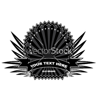 Free vintage label with scroll vector - Free vector #249235