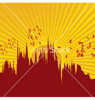 Free vintage summer background with city vector - Kostenloses vector #249615