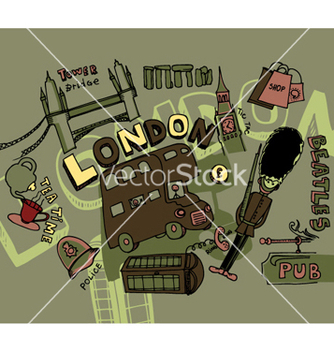 Free london doodles vector - vector #249805 gratis