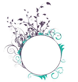 Free vintage floral frame vector - Free vector #250085