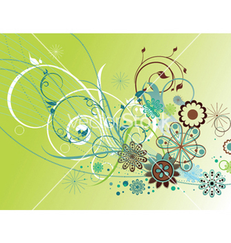 Free abstract floral background vector - Free vector #250285