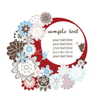 Free spring floral frame vector - Free vector #250625