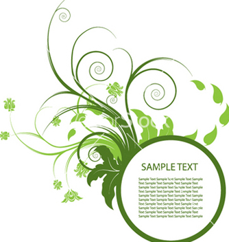 Free floral frame vector - Free vector #250805
