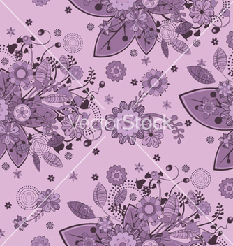 Free floral seamless pattern vector - Free vector #250875