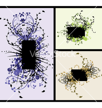 Free vintage floral frames set vector - Kostenloses vector #251155