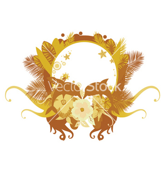 Free summer floral frame vector - Kostenloses vector #251185