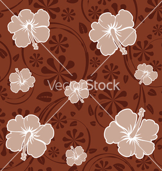 Free seamless floral pattern vector - Free vector #251255