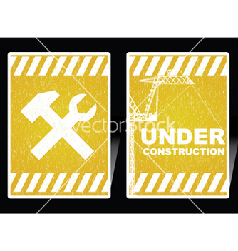 Free under construction signs vector - vector #251405 gratis
