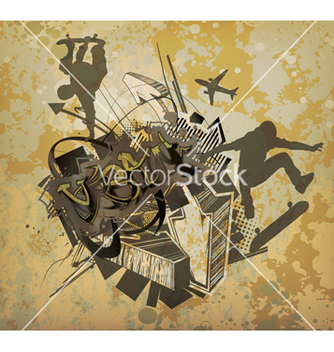 Free urban background vector - Free vector #251445