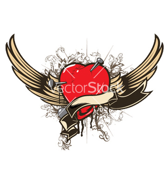 Free valentine emblem vector - Free vector #251485