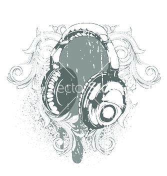 Free headphones emblem vector - Free vector #251655
