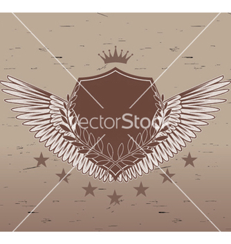 Free vintage emblem with shield vector - Kostenloses vector #251725