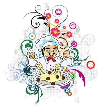 Free cartoon chef vector - Kostenloses vector #251805