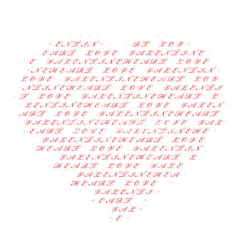 Free heart made of text vector - vector gratuit #251825