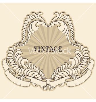 Free retro floral label vector - Free vector #251965