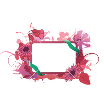 Free watercolor floral frame vector - Free vector #251975