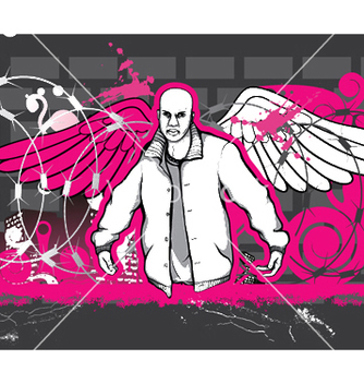 Free gangster with grunge background vector - Kostenloses vector #252165