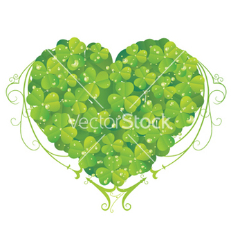Free bio heart made of floral vector - Free vector #252515