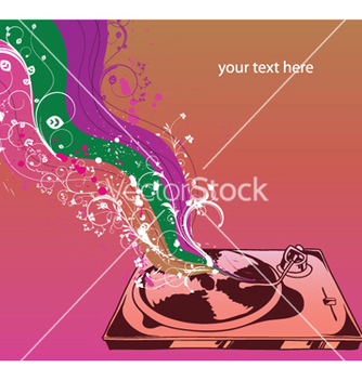 Free turntable with wave vector - vector #252595 gratis