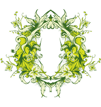 Free floral frame vector - Kostenloses vector #252655