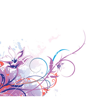 Free splash floral background vector - vector gratuit #252755