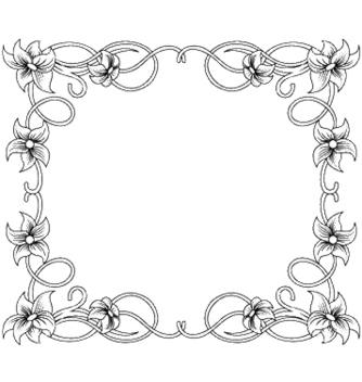 Free floral frame vector - Kostenloses vector #252785