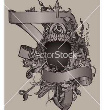 Free vintage emblem with shield vector - Free vector #252805