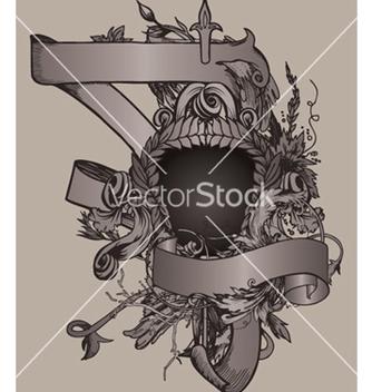 Free vintage emblem with shield vector - Kostenloses vector #252805