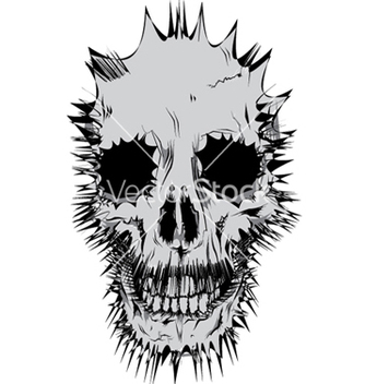 Free stylized skull vector - Free vector #252845
