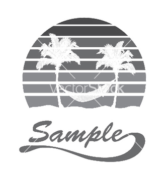 Free summer tshirt design with palm trees vector - Free vector #252935