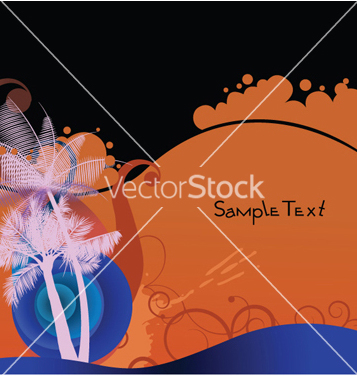 Free summer background with palm trees vector - Free vector #253005