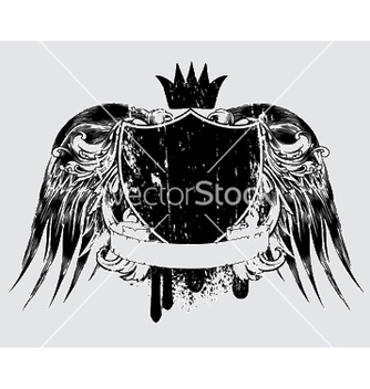 Free grunge tshirt design with shield vector - Kostenloses vector #253105
