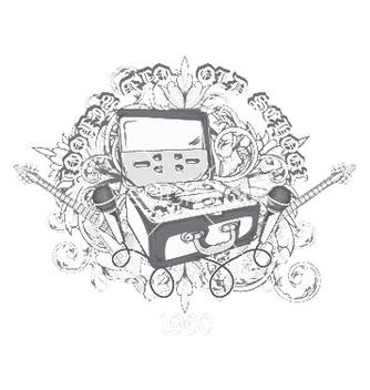 Free vintage music tshirt design vector - Kostenloses vector #253375