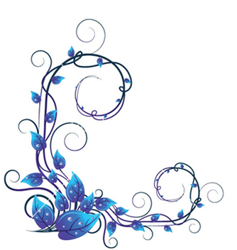 Free blue floral vector - Free vector #253605