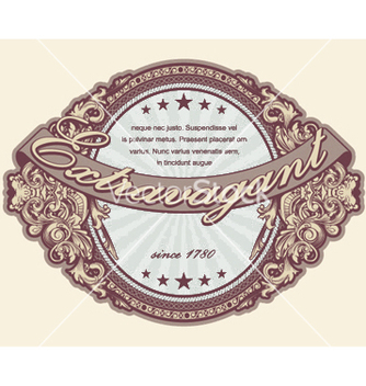 Free elegant vintage label with floral vector - Free vector #253895