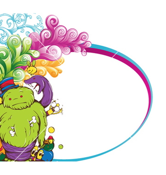 Free funny monsters background vector - Free vector #254035