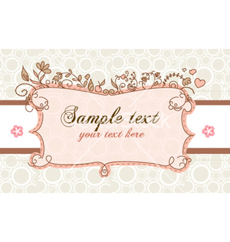 Free floral label vector - Free vector #254245