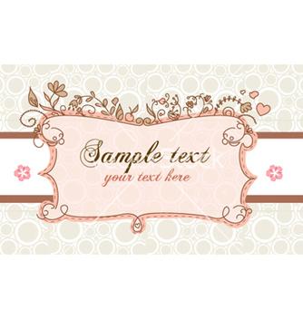 Free floral label vector - Kostenloses vector #254245