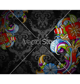 Free colorful floral background vector - Free vector #254265