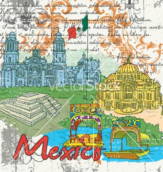 Free mexico doodles vector - Free vector #254505