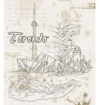 Free toronto doodles vector - Free vector #254925