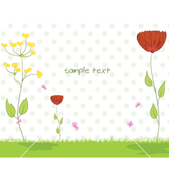 Free flowers with butterflies vector - Free vector #254935