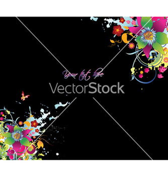 Free watercolor floral background vector - Free vector #254985