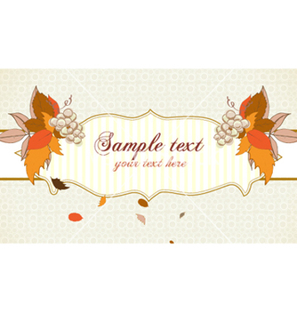 Free autumn label with grapes vector - Free vector #255155