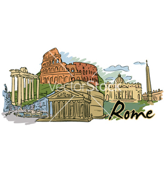 Free rome doodles vector - Free vector #255365