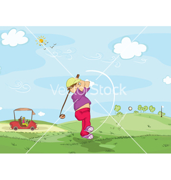 Free young golfer vector - Free vector #255395
