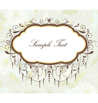 Free vintage frame vector - Free vector #255595