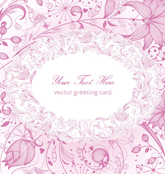 Free floral greeting card vector - Free vector #255625