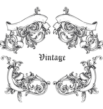 Free vintage frame vector - Free vector #255645